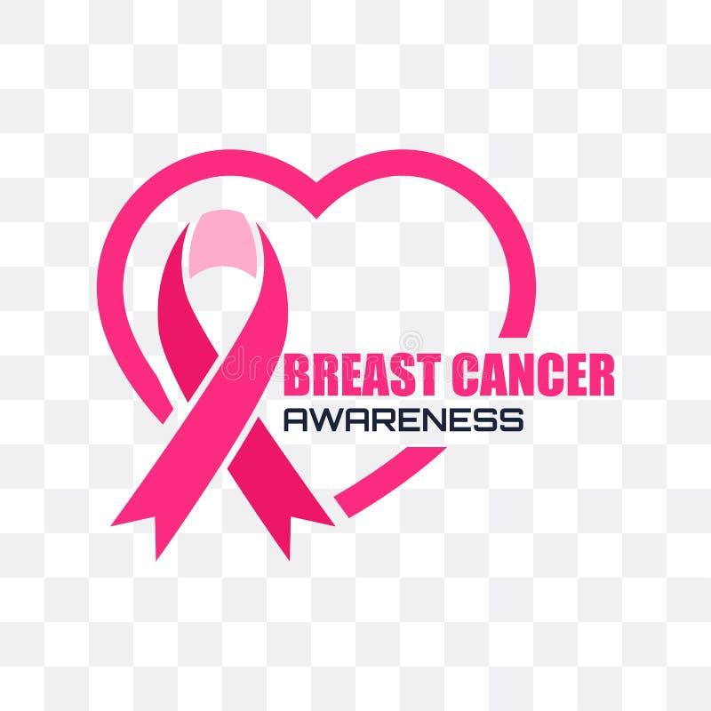 Συνειδητοποίηση καρκίνου του μαστού για τους άνδρες και τις γυναίκες, διάνυσμα διανυσματική απεικόνιση