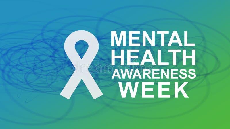 Συνειδητοποίηση πνευματικών υγειών μια ετήσια εκστρατεία που δίνει έμφαση στη συνειδητοποίηση των πνευματικών υγειών διανυσματική απεικόνιση