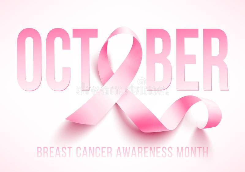 Συνειδητοποίηση καρκίνου του μαστού διανυσματική απεικόνιση