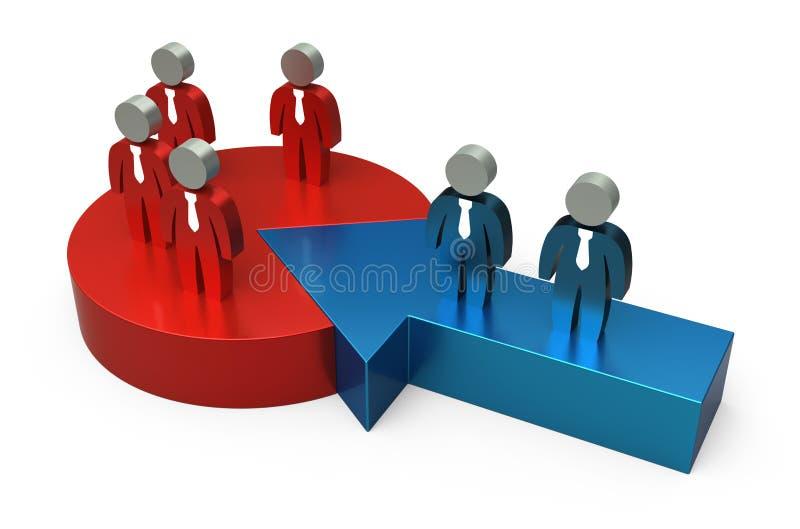 συνεργασία έννοιας απεικόνιση αποθεμάτων