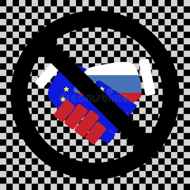 Συνεργασία απαγόρευσης μεταξύ της Ρωσίας και της ευρο- ένωσης απεικόνιση αποθεμάτων