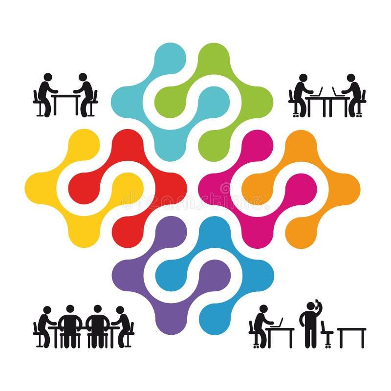 Συνεργασία και απεικόνιση συνεργασίας απεικόνιση αποθεμάτων