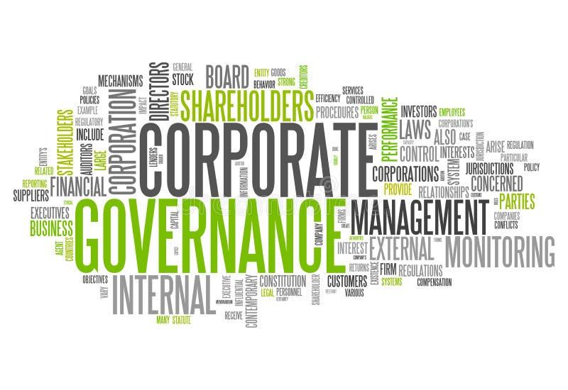 Συνεργασία κυβερνήσεων σύννεφων λέξης απεικόνιση αποθεμάτων