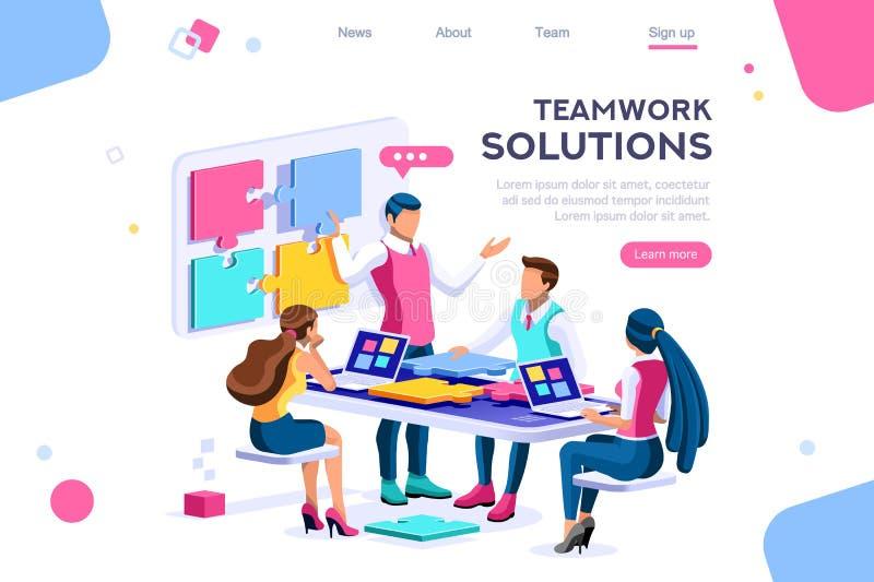 Συνεργασία Μαζί Επικοινωνία Λύσης απεικόνιση αποθεμάτων