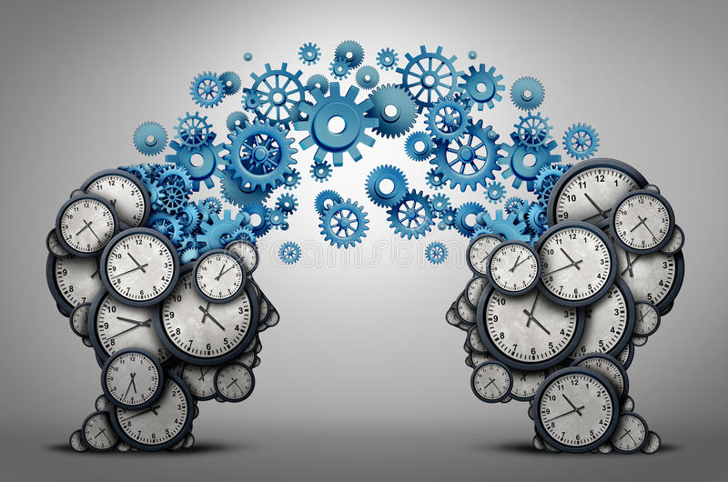 Συνεργασία προγραμματισμού επιχειρησιακού χρόνου διανυσματική απεικόνιση