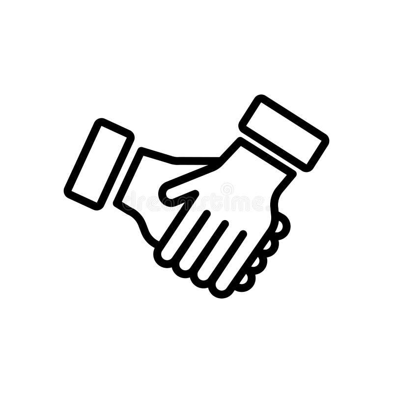 Συνεργαστείτε σημάδι και σύμβολο εικονιδίων διανυσματικό που απομονώνονται στο άσπρο backgrou ελεύθερη απεικόνιση δικαιώματος