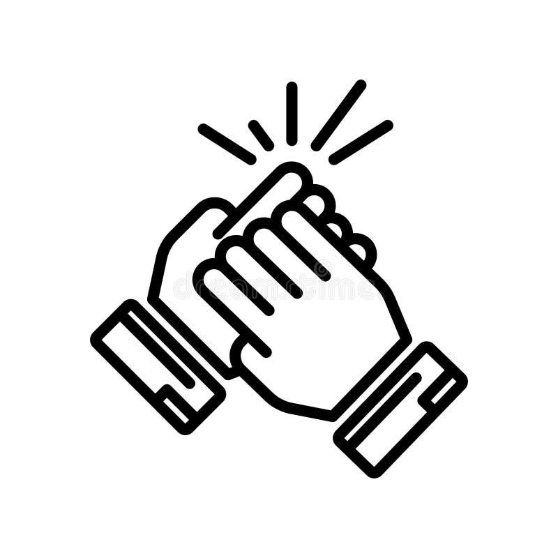 Συνεργαστείτε σημάδι και σύμβολο εικονιδίων διανυσματικό που απομονώνονται στο άσπρο backgrou διανυσματική απεικόνιση