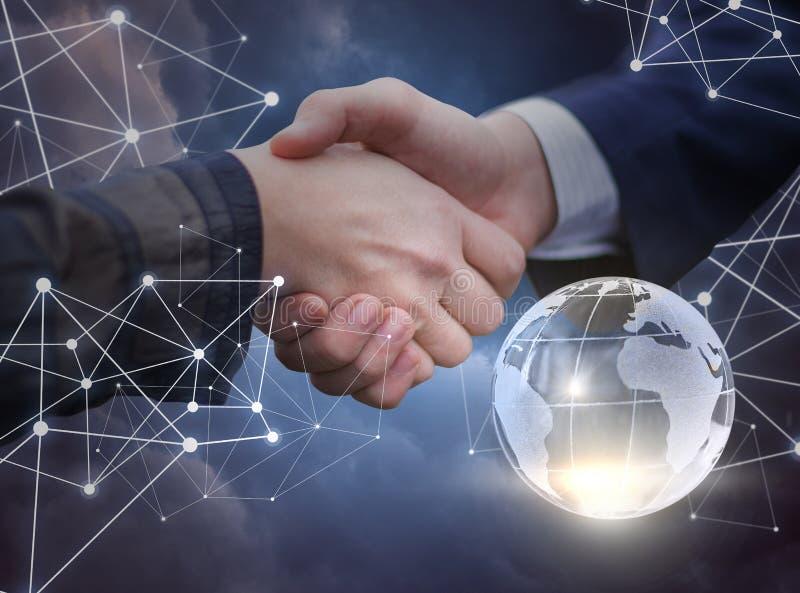 Συνεταιρισμός και συνεργασία μέσω των δικτύων διανυσματική απεικόνιση