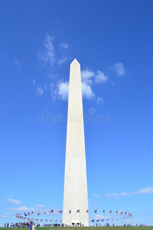 συνεχές μνημείο Ουάσιγκ&ta στοκ εικόνες