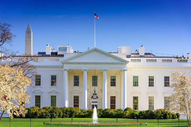 Συνεχές ρεύμα στο Λευκό Οίκο στοκ φωτογραφία