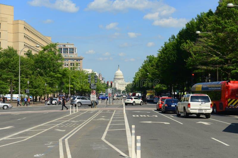 συνεχές ρεύμα capitol εμείς ΗΠΑ Ουάσιγκτον στοκ φωτογραφία