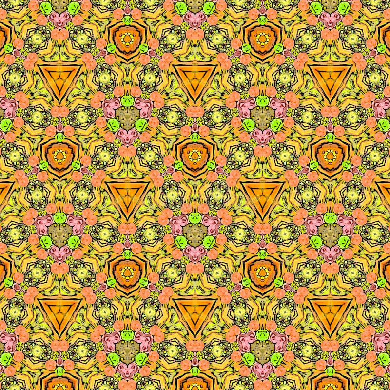Συνεχής διακοσμητική σύσταση στο ασιατικό ύφος Αφηρημένο υπόβαθρο μωσαϊκών λουλουδιών Εορταστική γεωμετρική ταπετσαρία διακοπών Ε απεικόνιση αποθεμάτων