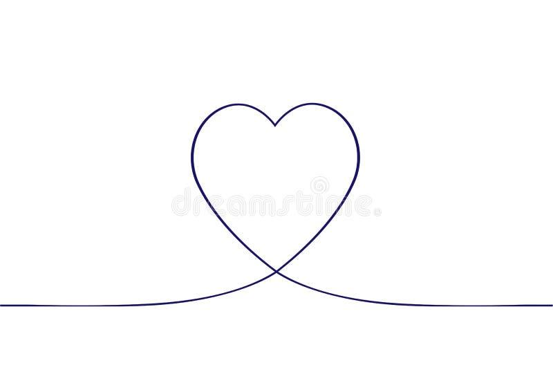 Συνεχής σχέδιο γραμμών της καρδιάς background dim heart hearts images Συνεχές σχέδιο της καρδιάς στο άσπρο υπόβαθρο ελεύθερη απεικόνιση δικαιώματος