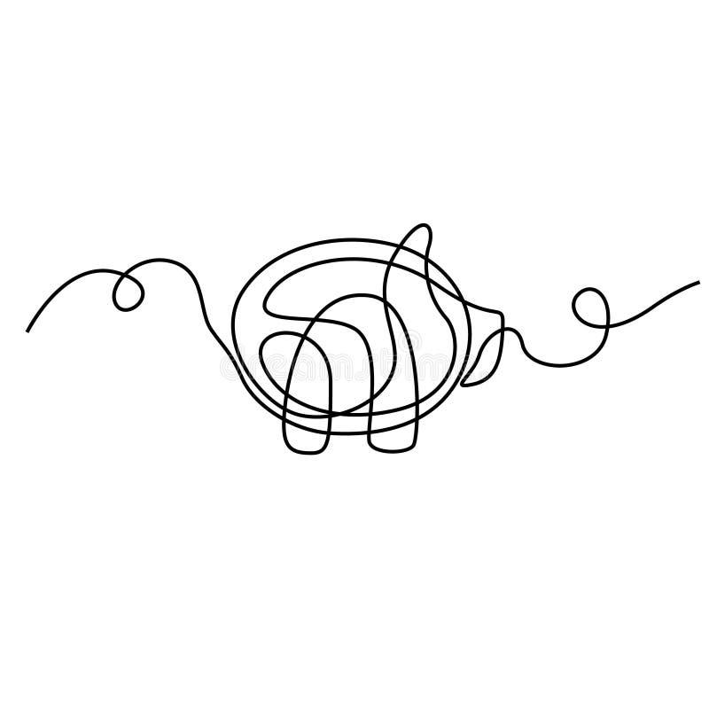 Συνεχής χοίρος σχεδίων γραμμών r απεικόνιση αποθεμάτων