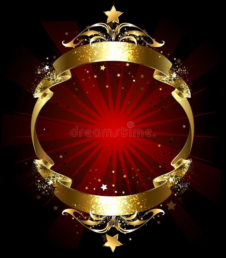 Συνεχής χρυσή κορδέλλα απεικόνιση αποθεμάτων