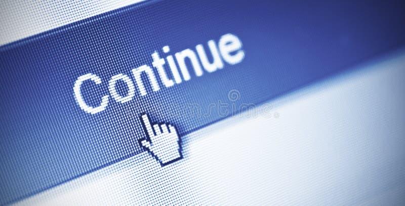 Συνεχίστε το κουμπί στοκ εικόνα με δικαίωμα ελεύθερης χρήσης