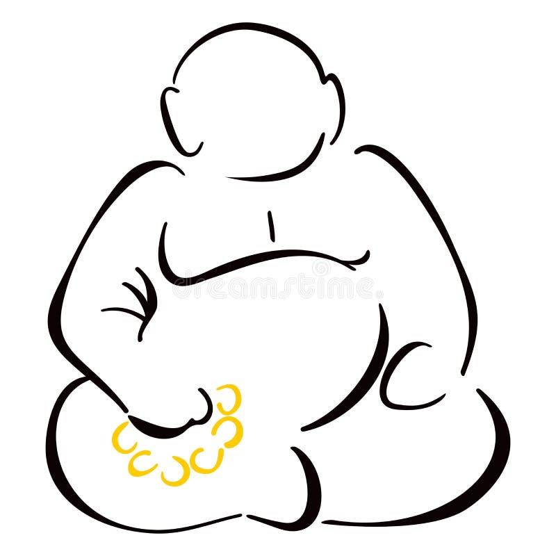Συνεδρίαση Βούδας διανυσματική απεικόνιση