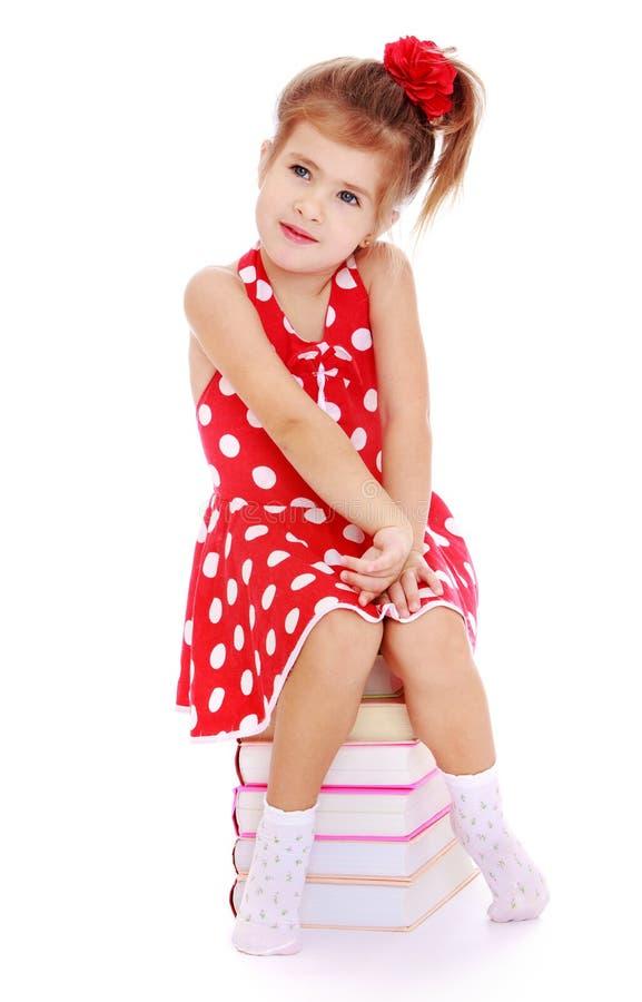 συνεδρίαση κοριτσιών βι&beta στοκ φωτογραφία με δικαίωμα ελεύθερης χρήσης