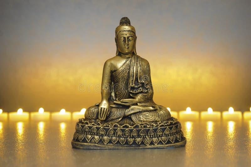 συνεδρίαση περισυλλογής του Βούδα στοκ εικόνα