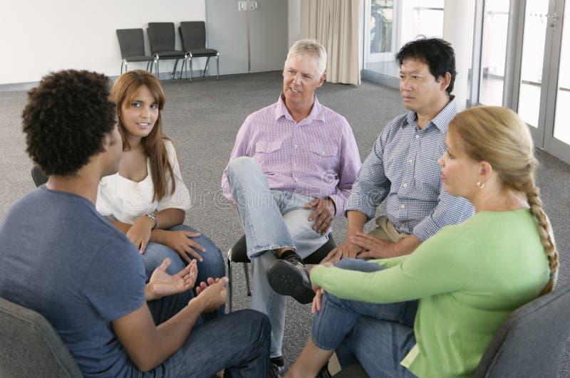 Συνεδρίαση της ομάδας στήριξης στοκ εικόνα με δικαίωμα ελεύθερης χρήσης
