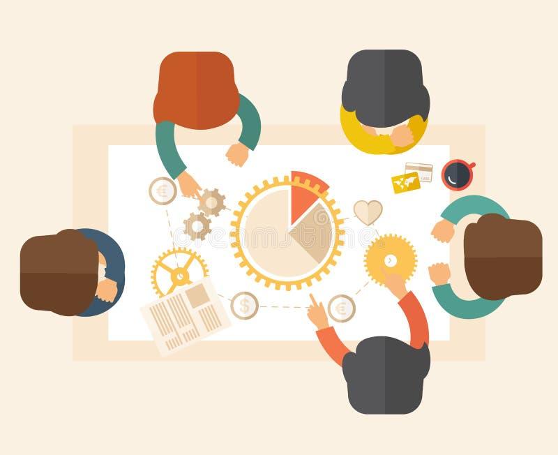 Συνεδρίαση της ομάδας διανυσματική απεικόνιση