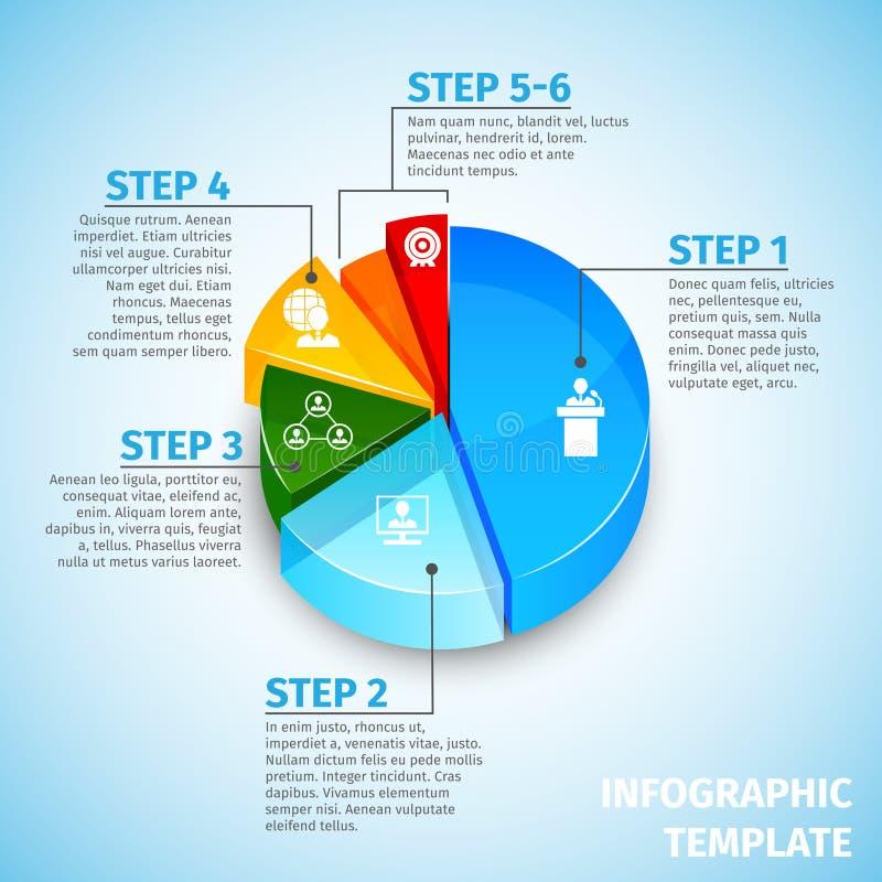 Συνεδρίαση των διαγραμμάτων πιτών infographic διανυσματική απεικόνιση
