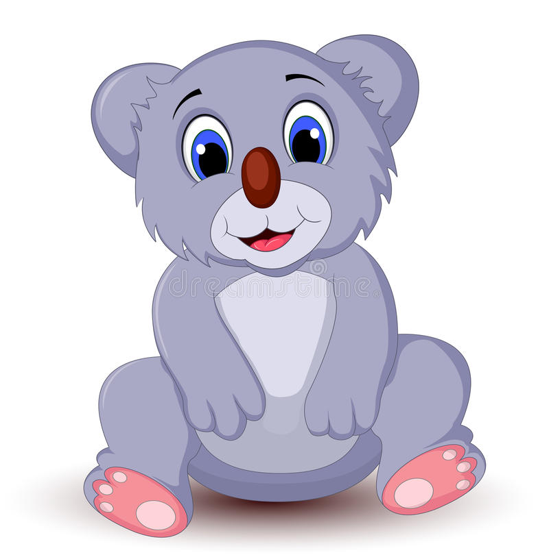 Συνεδρίαση koala κινούμενων σχεδίων ελεύθερη απεικόνιση δικαιώματος