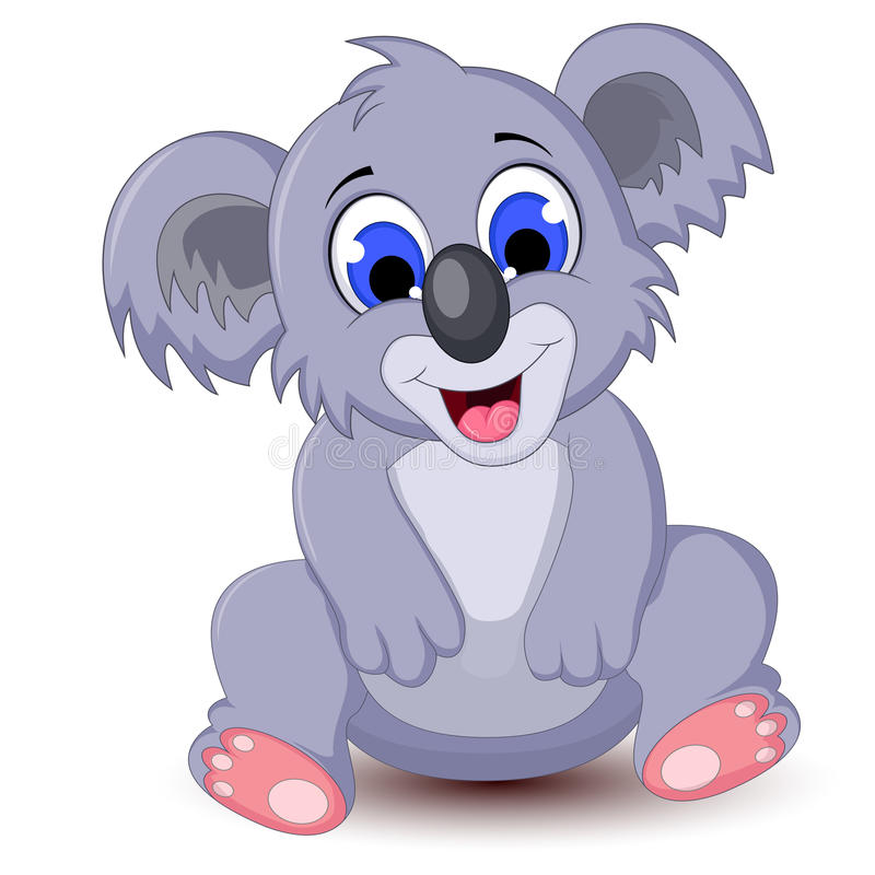Συνεδρίαση koala κινούμενων σχεδίων διανυσματική απεικόνιση