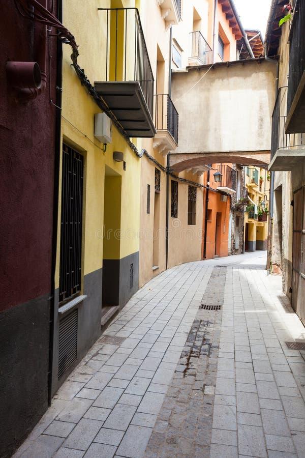 Συνηθισμένη οδός της καταλανικής πόλης στοκ εικόνα