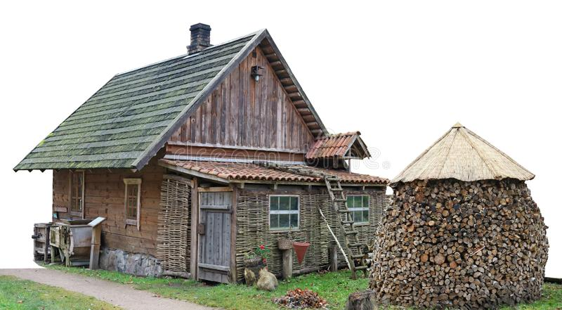 Συνηθισμένο ξύλινο εκλεκτής ποιότητας αγροτικό υπόστεγο nouname για την αποθήκευση του agricul στοκ εικόνα με δικαίωμα ελεύθερης χρήσης