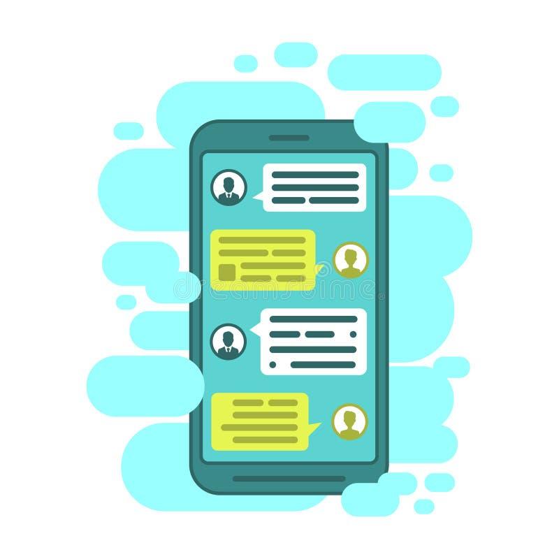 Συνθέστε τους διαλόγους χρησιμοποιώντας τις φυσαλίδες δειγμάτων Έξυπνες τηλεφωνικό να κουβεντιάσει sms φυσαλίδες προτύπων απεικόνιση αποθεμάτων