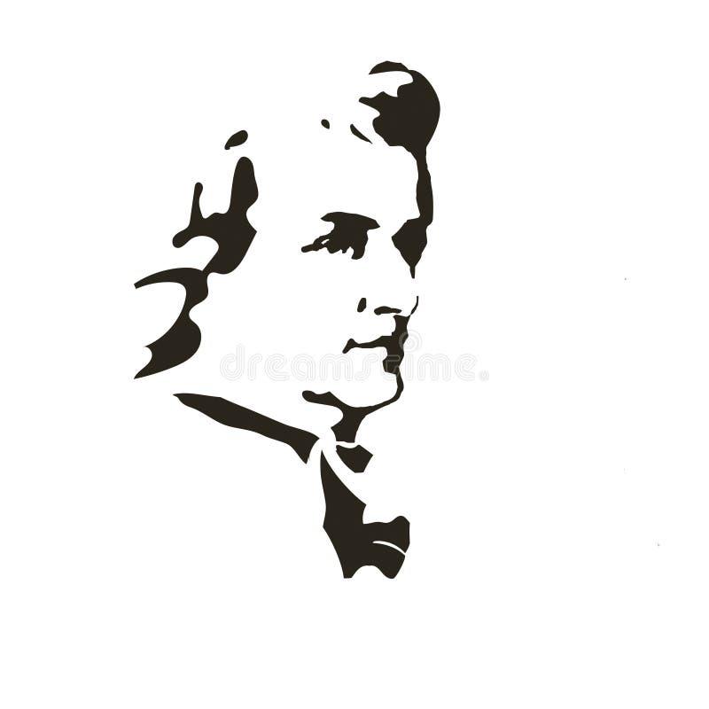 Συνθέτης Βόλφγκανγκ Αμαντέους Μότσαρτ background cards fashion good like portrait some use vector ελεύθερη απεικόνιση δικαιώματος