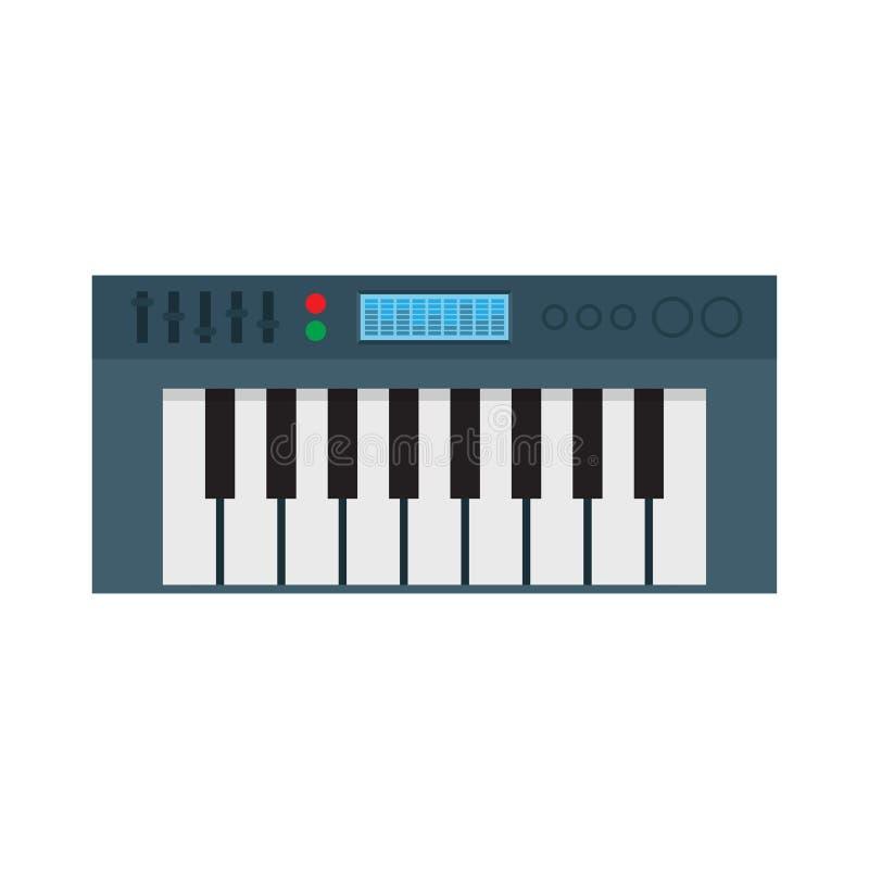 Συνθέτης μουσικής ηλεκτρονικό πιάνο διάνυσμα ελεύθερη απεικόνιση δικαιώματος