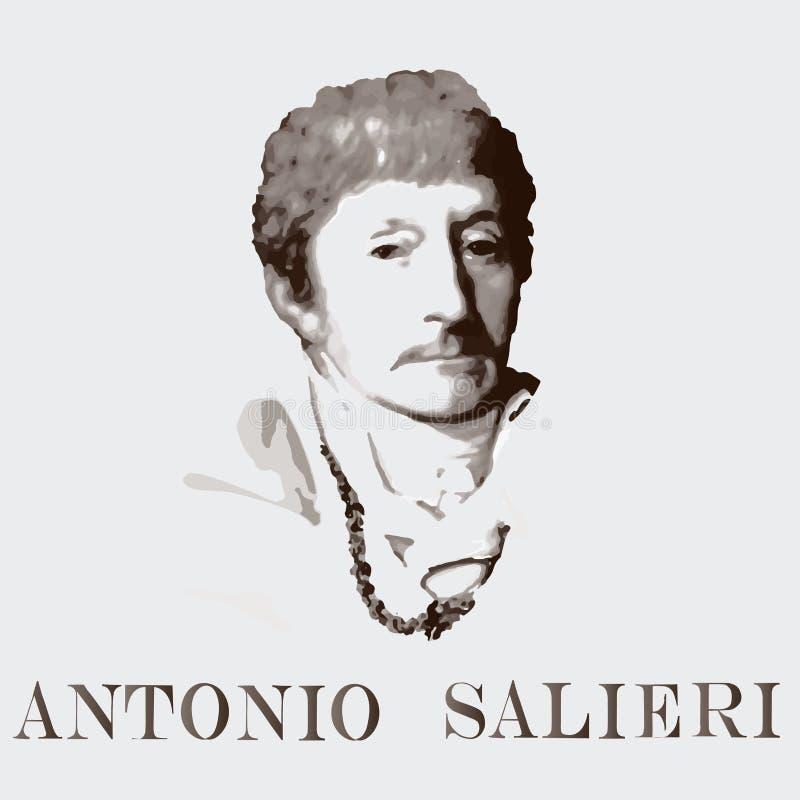 Συνθέτης Antonio Salieri background cards fashion good like portrait some use vector διανυσματική απεικόνιση