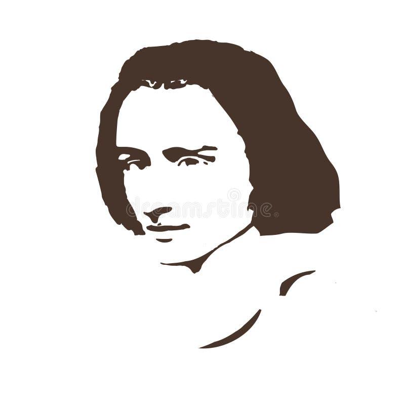 Συνθέτης Ferenc Liszt background cards fashion good like portrait some use vector απεικόνιση αποθεμάτων