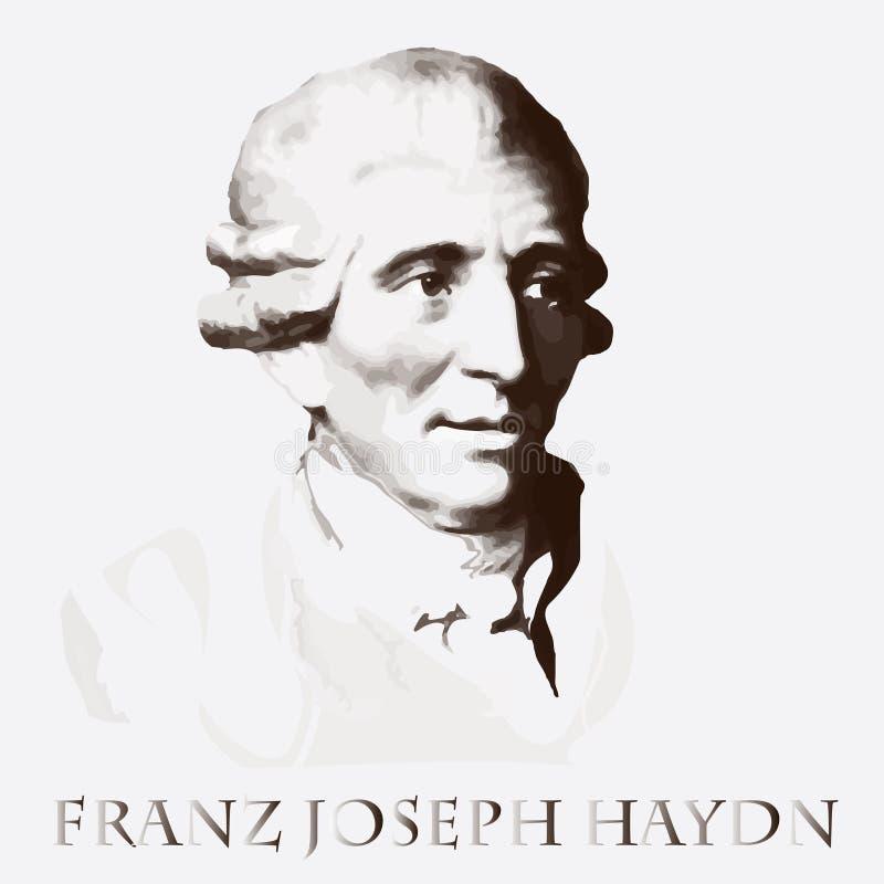 Συνθέτης Franz Joseph Haydn background cards fashion good like portrait some use vector διανυσματική απεικόνιση