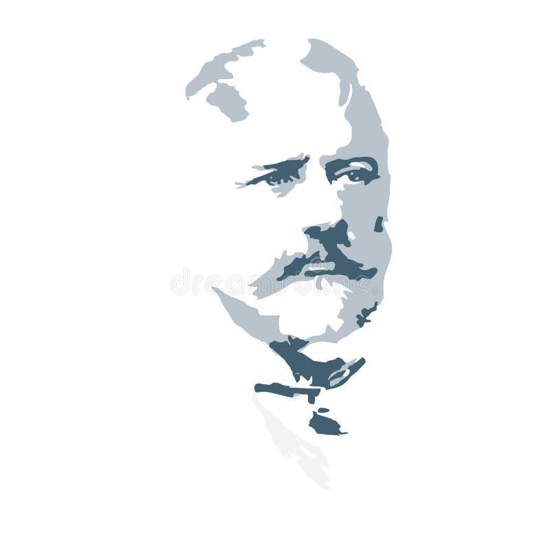 Συνθέτης Pyotr Tchaikovsky background cards fashion good like portrait some use vector διανυσματική απεικόνιση