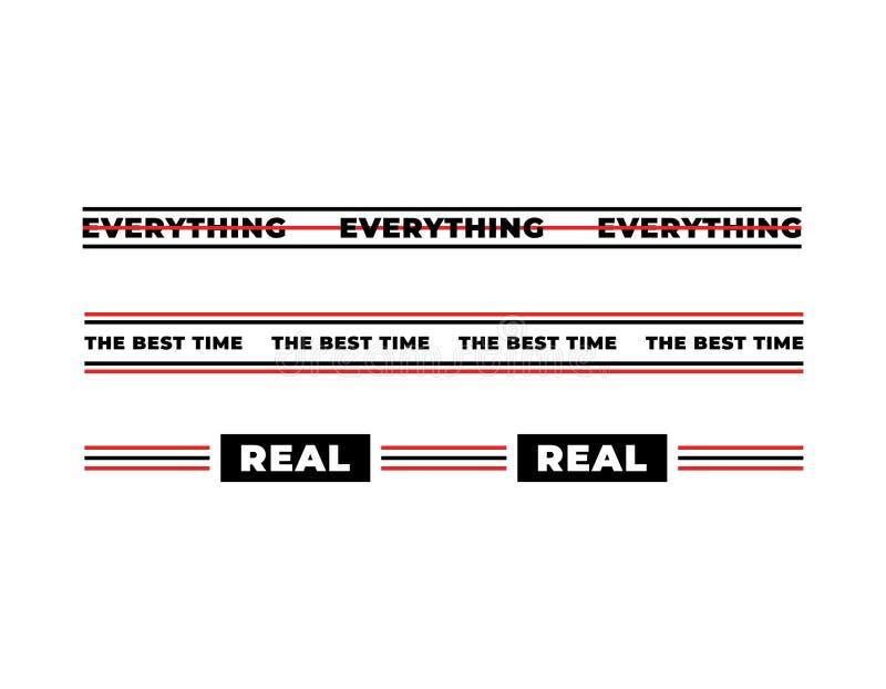Συνθήματα τυπογραφίας για την εκτύπωση μπλουζών Όλα, ο καλύτερος χρόνος, πραγματικός σύγχρονος γραφικός με τις μαύρες και κόκκινε απεικόνιση αποθεμάτων