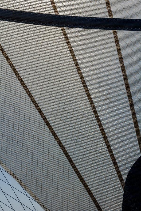 Συνθετικό mylar πανί γιοτ ινών στοκ φωτογραφία με δικαίωμα ελεύθερης χρήσης