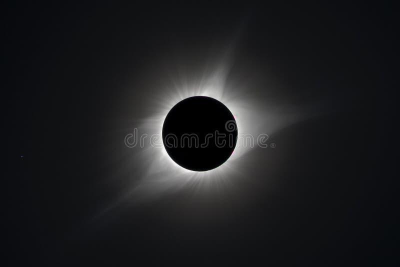 Συνολική ηλιακή έκλειψη 2017 στοκ φωτογραφία με δικαίωμα ελεύθερης χρήσης