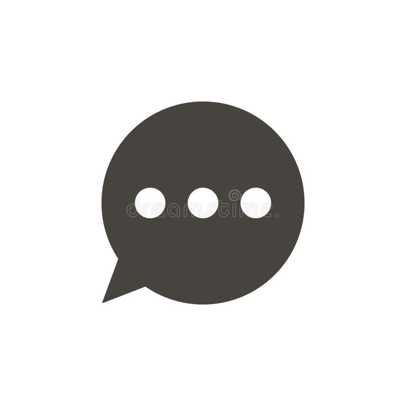 Συνομιλία, διανυσματικό εικονίδιο φυσαλίδων συνομιλίας Απλό στοιχείο illustrationChat, διανυσματικό εικονίδιο φυσαλίδων συνομιλία απεικόνιση αποθεμάτων