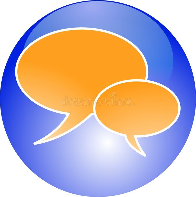 συνομιλία κουμπιών ελεύθερη απεικόνιση δικαιώματος