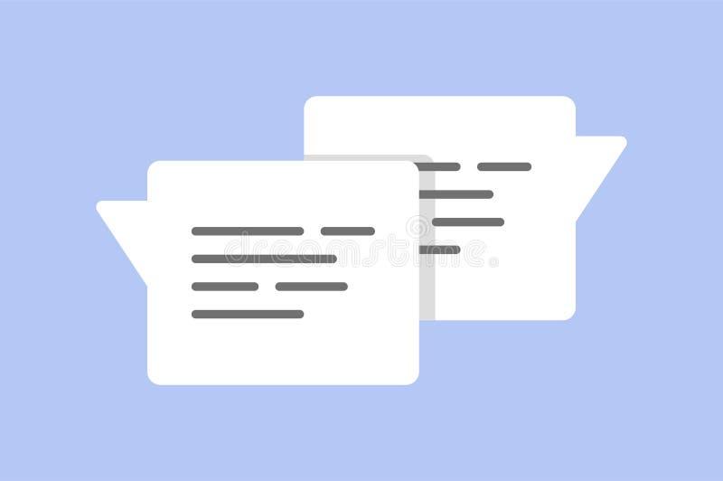 Συνομιλία φυσαλίδων μηνυμάτων, on-line που κουβεντιάζει ελεύθερη απεικόνιση δικαιώματος