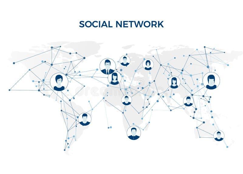 συνομιλίες έννοιας επικοινωνίας δεσμών που έχουν τους ανθρώπους μέσων κοινωνικούς Γραφική σύνδεση παγκόσμιων δικτύων Κοινωνική δο διανυσματική απεικόνιση