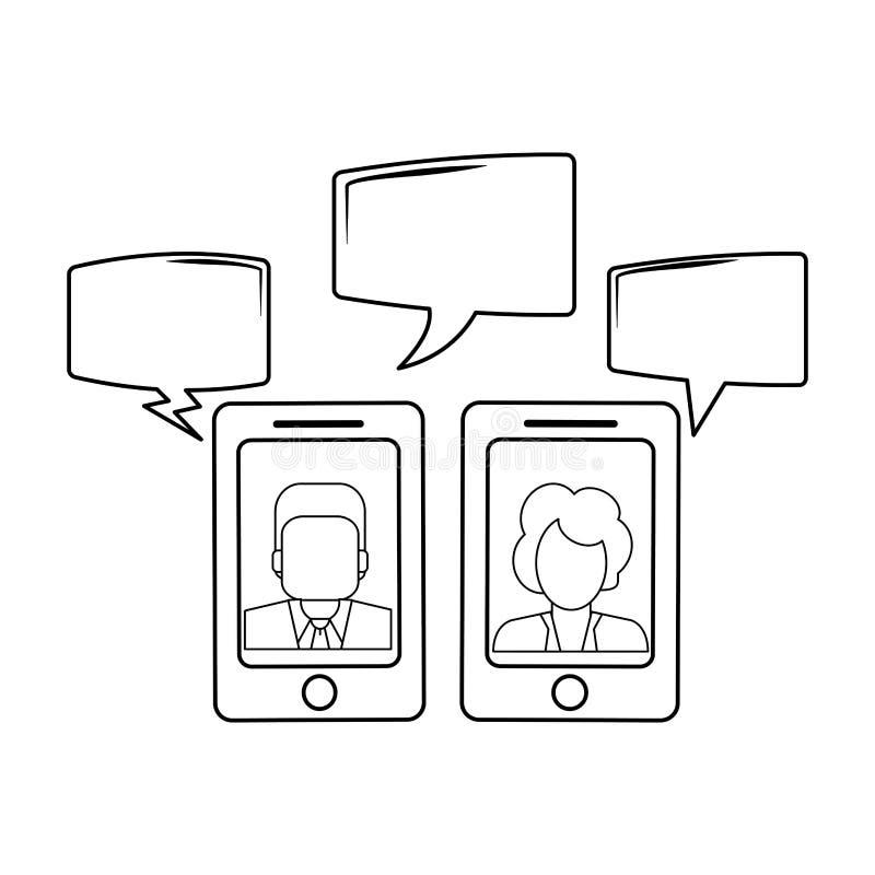 Συνομιλίες στο smartphone σε γραπτό απεικόνιση αποθεμάτων