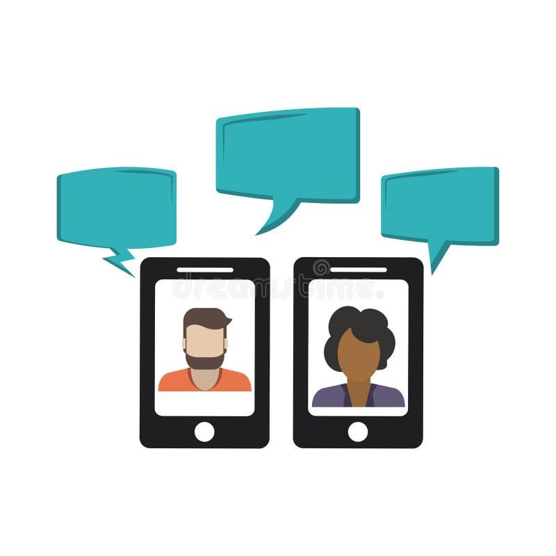 Συνομιλίες στο smartphone ελεύθερη απεικόνιση δικαιώματος