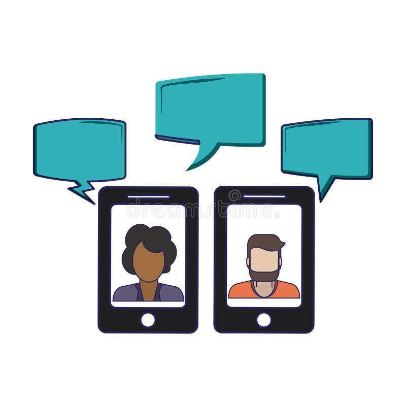 Συνομιλίες στο smartphone απεικόνιση αποθεμάτων