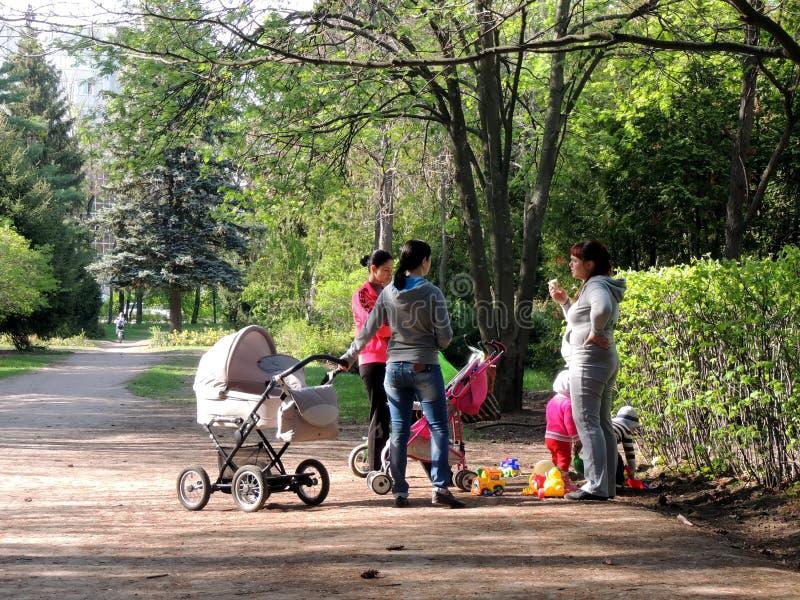 Συνομιλία μητέρων στοκ φωτογραφία με δικαίωμα ελεύθερης χρήσης