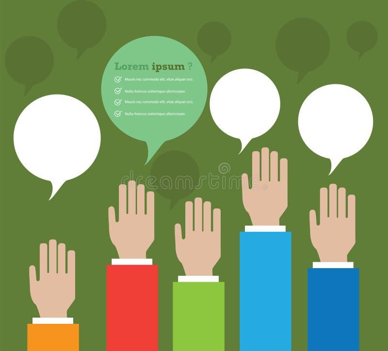 Συνομιλία χεριών διανυσματική απεικόνιση