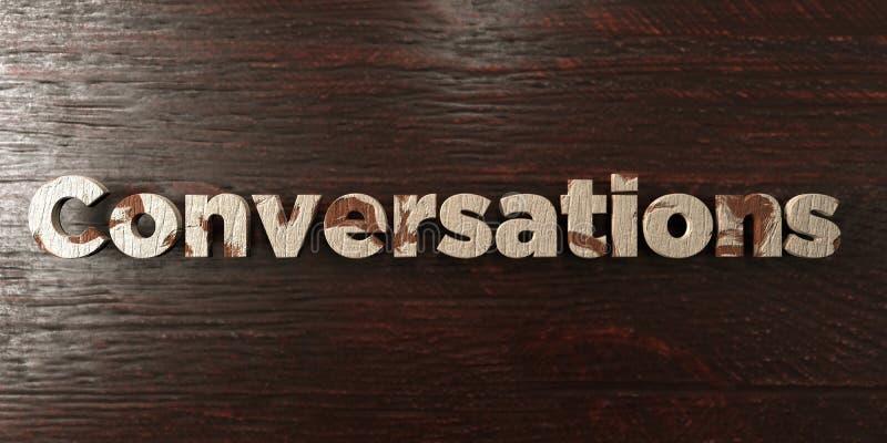 Συνομιλίες - βρώμικος ξύλινος τίτλος στο σφένδαμνο - τρισδιάστατο δικαίωμα ελεύθερη εικόνα αποθεμάτων διανυσματική απεικόνιση